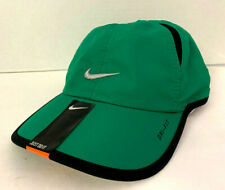 NEW! NIKE Youth Ages 4-7 Featherlight DRI-FIT Runner Adjustable Hat-Green/Black