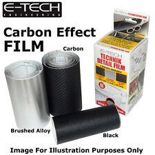 E-Tech 3D CARBON EFFECT Technik Detail Protection Film 1m x 10cm Car Bikes sil