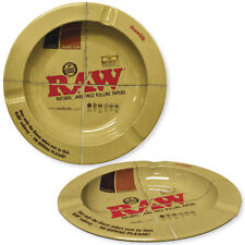"""5.5"""" Round Metal Ashtray by Raw Natural Unrefined Rolling Papers"""