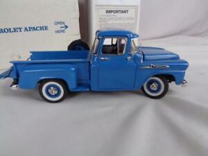 Danbury Mint 1/24 Diecast - 1958 Dawn Blue Chevrolet Apache Pickup w/ Packaging