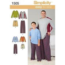 SIMPLICITY SEWING PATTERN BIG & TALL MEN'S PANTS OR SHORT KNIT TOP S - 5XL 1505