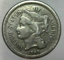 1865-P Three Cent Nickel - F/VF