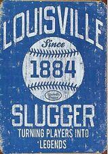 Fridge Magnet 2x3 Louisville Slugger Blue Distressed Retro Vintage Tin Sign