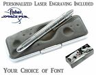Personalized Fisher Space Pen #400CL / Classic Chrome Bullet Pen with Clip