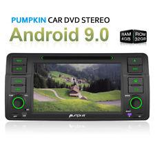 Pumpkin 1 DIN Autoradio Android 9.0 DVD GPS Navi 32GB 4GB Für BMW E46 3er M3 320