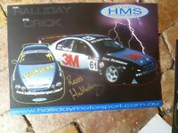 ROSS HALLIDAY SIGNED HALLIDAY MOTOR RACING  CAR RACING POSTER  A3  SIZE
