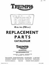 Triumph Parts Manual Book 1970 TRIDENT T150