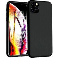 Cover per IPHONE 11 PRO MAX Custodia NERO OPACO Slim in Silicone TPU + VETRO HD