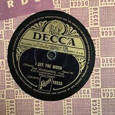"""The Stargazers I See The Moon/ Look At That Girl w/Dennis Lotis 78rpm 10"""" (7019)"""