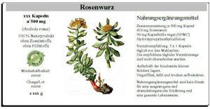 Rosenwurz Kapseln (rhodiola rosea)