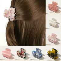 Women Hair Clip Simple Marble Textured Hair Barrettes Girl Clip Hair Hair H5S9