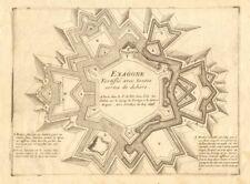 'Exagone fortifié'. Fortified defensive hexagon. DE FER 1705 old antique print
