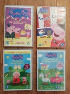4 X PEPPA PIG DVD'S ALL EXCELLENT CONDITION UK FREEPOST