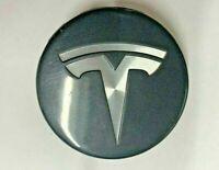 X /& 3 Grey OEM Wheel Center Caps Set 6005879-00-A 2012-2019 New Tesla Model S