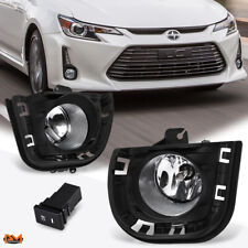 For 14-16 Scion tC Clear Lens Front Bumper Driving Fog Light/Lamp+Switch+Bezel