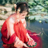2 Pcs Set Women's Dress Tops Skirt Suit Hanfu Clothing Chiffon Ancient Costume