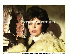 R379 Joan Collins close up Dark Places 1974 8 x 10 color lobby card