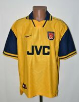 ARSENAL LONDON 1996/1997 AWAY FOOTBALL SHIRT JERSEY NIKE SIZE XL ADULT