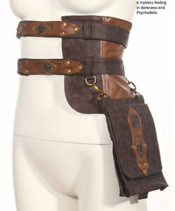 Ladies Steampunk Medieval Wizard Sorcerer Cosplay Harness Waist Bag RQ-BL SP092