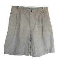 Tommy Hilfiger Size 34 Shorts Beige Cream Casual Comfort Cotton Chino Smart