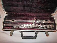 VINTAGE SELMER SIGNET STERLING TUBE FLUTE WITH CASE RARE