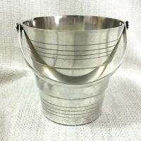Original French Art Deco Silver Plated Ice Bucket Pail Geometric 1920s