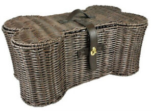Bone Dry Pet Storage Collection Toy Basket Large Plastic Wicker