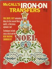 McCall's Iron-On Transfers Vol II The McCall Pattern Company Paperback