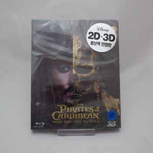 Pirates Of The Caribbean: Dead Men Tell No Tales Blu-ray Steelbook 2D & 3D Combo