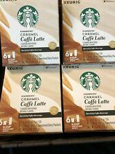 Starbucks Caramel Caffe Latte Keurig K-Cups 4 Box Pack