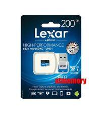 Lexar 200GB 200G 633x 95MB/s Micro SDXC MicroSD Class10 UHS-I + Card Reader AU