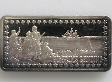 1973 Pilgrims Landing Silver Art Bar Hamilton Mint Wonders of America P0513
