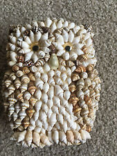 "Vintage Shell Art OWL Goldfarb Fischer? 5"" tall mini conch shells seaside decor"