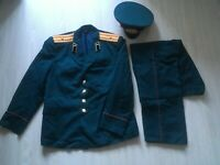 Military uniform of the missile forces major of the Soviet Army of the USSR