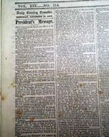 1862 Civil War Newspaper w/ ABRAHAM LINCOLN'S State of the Union Address SIGNED
