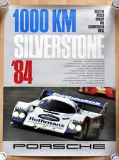 orginal Porsche Plakat Renn Poster 1000 Km Silverstone 84 Rothmans Porsche 956