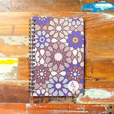 Spiral A6+ 100 Page A-Z Tabbed Index Address Book Moroccan Paper Notebook Pad