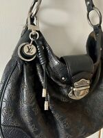 Authentic Louis Vuitton Mahina Solar PM Black with LV Leather Rope Keyring/Charm