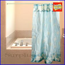 Sea Shells Design Fabric Shower Curtain 100% Polyester