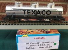 Athearn HO  TEXACO Triple Dome Tank Car TCX 273, KADEE & Steel Wheels