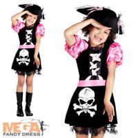 Pirate Ship Mate + Hat Girls Fancy Dress Caribbean Buccaneer Kids Childs Costume
