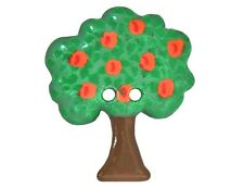 Apple Tree 1 and 3/16 inch ( 30 mm ) Dill Novelty Sewing Button