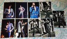 Elvis On Tour 9 Photo Set :Dark Blue Jumpsuit, Greensboro 1972  & FREE Live CD!