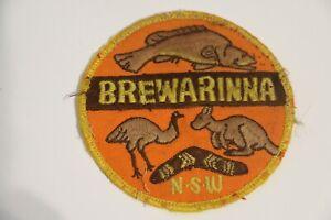 RARE - MISSPELT Vintage Cloth Patch - Brewarinna NSW - Souvenir - Brewarrina