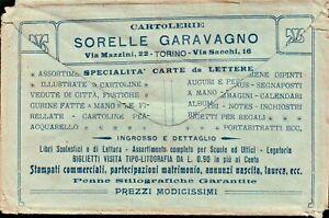 BUSTA PUBBLICITARIA - CARTOLERIE SORELLE GARAVAGNO TORINO - 23-182