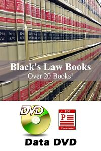HUGE Black's Law Books - 19 books + Black's Law Dictionary 1st & 2nd Ed on DVD