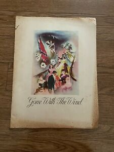 Vintage 1939 Gone With the Wind Movie Theater Program Theatre Booklet Souvenir