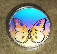 1998 St.Thomas 1 OZ Silver Hologram 1000 Dobras Buterfly