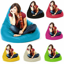 Faux Leather Chair Solid Bean Bag & Inflatable Furniture