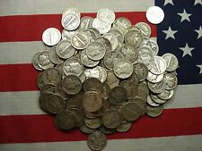 Survival Money (50) Fifty 1916-1945 Mercury Dimes 90% Silver Coins